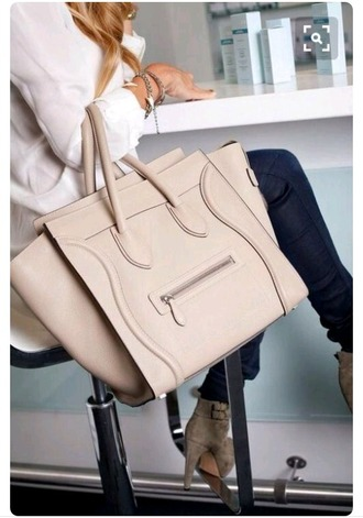 bag celine bag nude bag