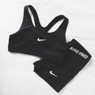 pants nike bra leggings workout leggings black workout sports bra