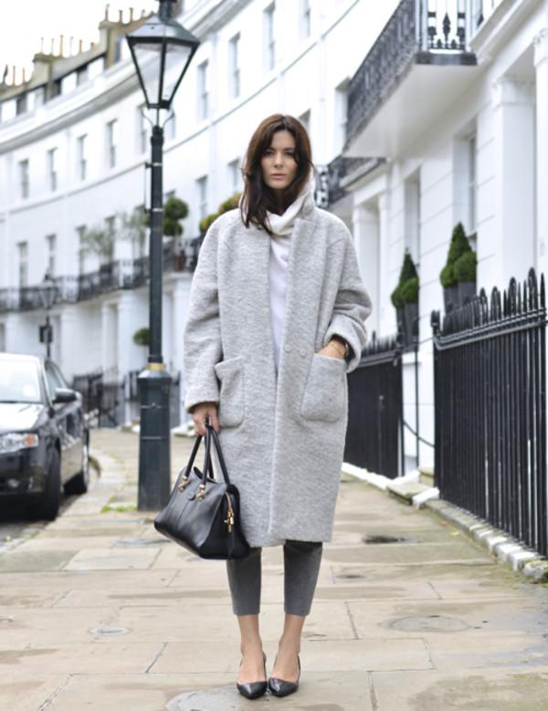 Ganni Maln Wool Crombie Coat By Ganni