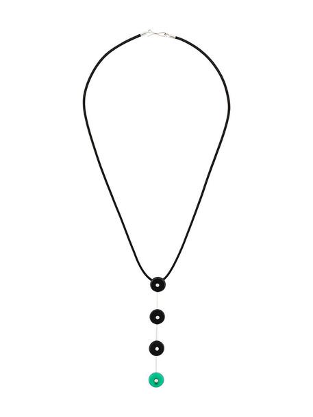 Simonetta Bianchini women embellished necklace gold white black silk jewels