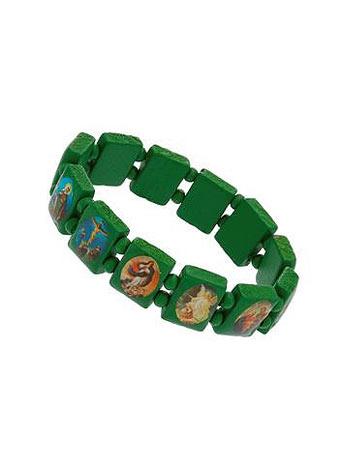 Green religious stretch bracelet