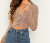 blouse,girly,girl,girly wishlist,crop tops,cropped,crop,button up,long sleeves,sparkle,rose gold