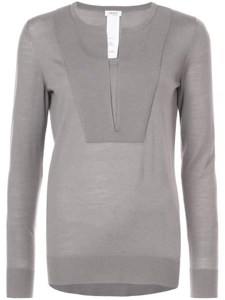 Akris punto sweater women nude wool