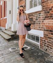 shoes,slide shoes,black sandals,dress,sunglasses,bag