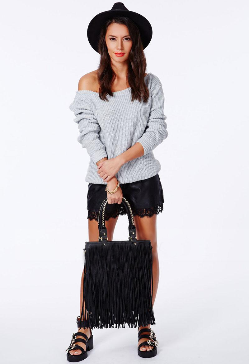 Krista one shoulder white sweater · fashion struck · online store powered by storenvy
