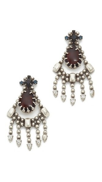matte earrings silver black burgundy matte black jewels
