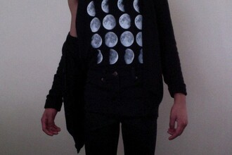 top teeshirt t shirt t-shirt tee-shirt moon