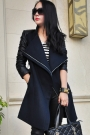 Long Retro V-neckline Woolen Coat - OASAP.com