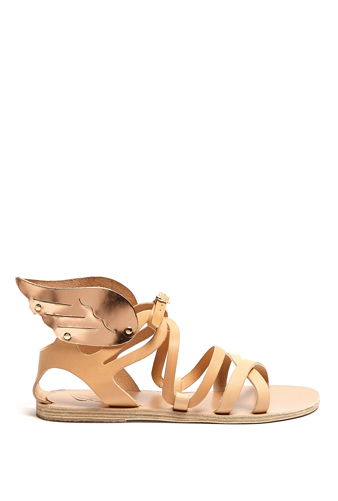 Nephele wings flat sandal by ancient greek sandals