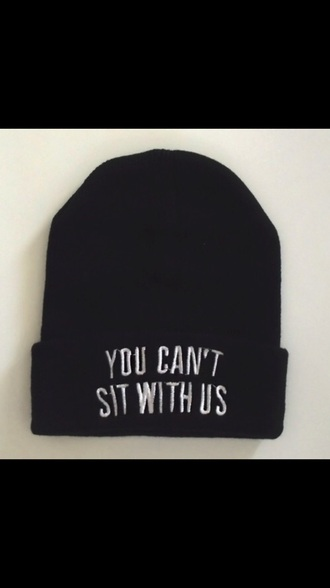 black you cant sit with us you can't sit with us mean girls beanie hat