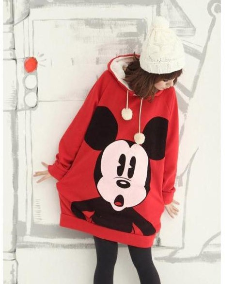 2014 new cute Mickey Mouse relaxed casual loose hooded sweater   gift-in Hoodies & Sweatshirts from Apparel & Accessories on Aliexpress.com