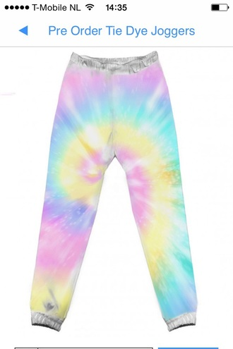 pants tye dye activewear jogging pants