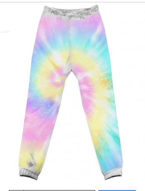 pants tie dye activewear sweatpants