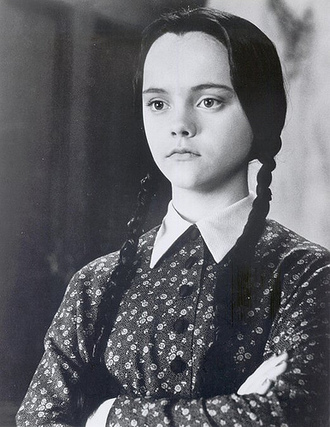dress black dress printed dress collar christina ricci