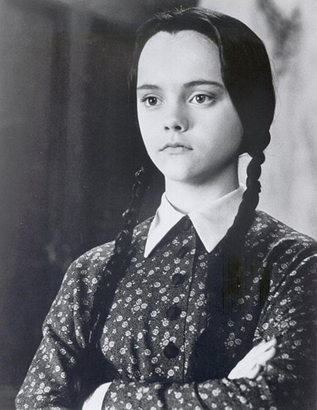 little black dress printed dress collar Christina Ricci