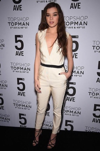 jumpsuit topshop top shop cream 5th ave