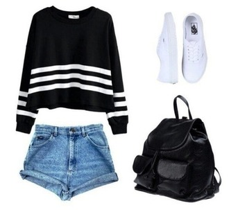 sweater black comfy tylish cute spring tumblr style autum
