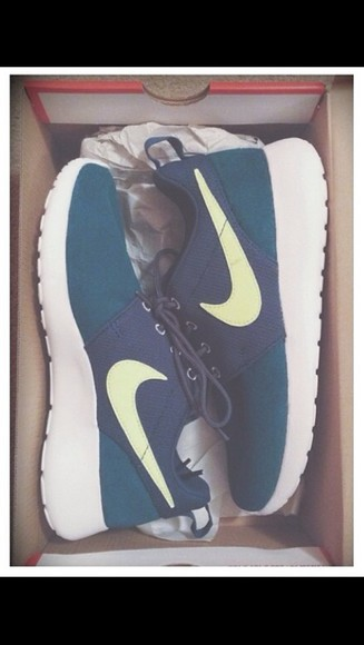 shoes trainers blue shoes nike roshe run Nike Roshe run Blue nike roshe
