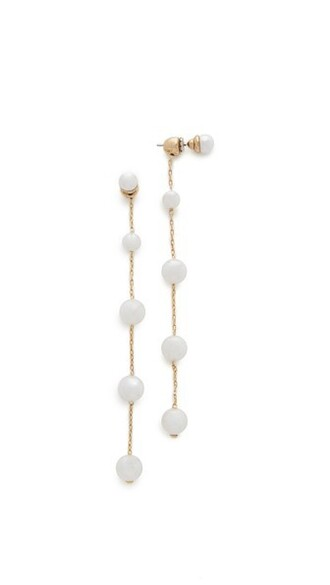 pearl earrings long pearl earrings white jewels