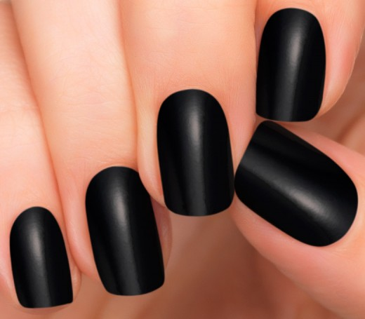No Mess Black Nail Polish Strips | Midnight Polish Strips by Incoco  - Incoco
