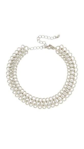 necklace choker necklace silver jewels