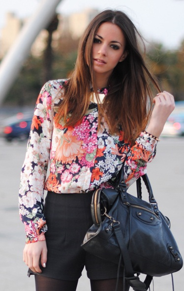 Zara Floral Blouse Ebay 29