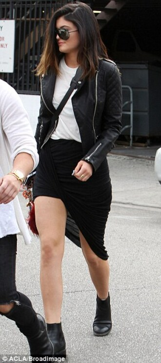 skirt kylie jenner jacket shoes shirt