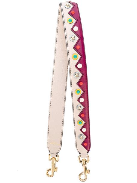 Dolce & Gabbana women beaded bag leather nude