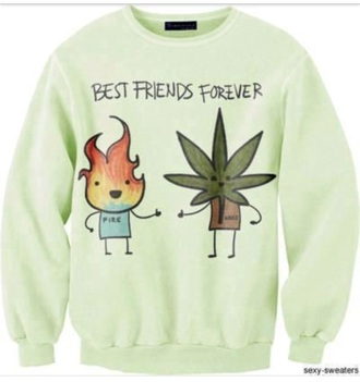 sweater weed tumblr friends green mint