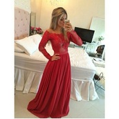 dress,long red dress,glamorous dress,elegant,lace,long,gown,prom,red dress,off the shoulder,see through,red prom dress,sexy,red,chiffon,prom dress,stylish,fashion,girly,girl,girly wishlist,prom gown,long prom dress