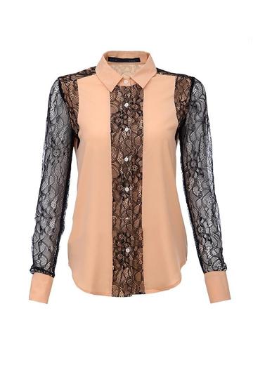 OL Style Lace Matching Chiffon Shirt [FDBI00327]- US$32.99 - PersunMall.com