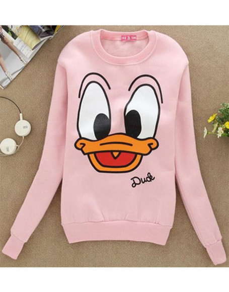 disney pink sweater duck sweater donald duck wow