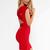 Red Mini Dress - Quontum Red Wrap Strap Dress | UsTrendy
