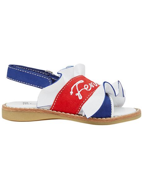 Fendi Kids sandals leather blue shoes