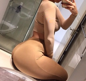 pants nude stretch long fitted tight
