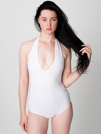 Cotton Spandex Jersey Halter Leotard | American Apparel