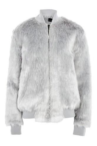 jacket bomber jacket long hair long hair grey