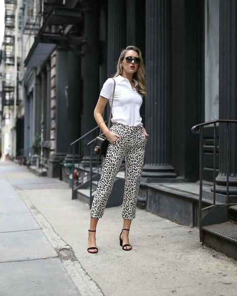 7205b013c7a73b memorandum blogger pants shirt shoes bag gucci bag white top polo shirt  sandals high heel sandals