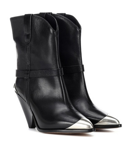 Isabel Marant Lamsy leather boots in black