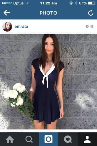 dress emily ratajkowski sailor mini dress