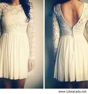 dress,lace,white,short dress,little white dress