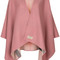 Burberry - reversible check poncho - women - cashmere - one size, pink/purple, cashmere