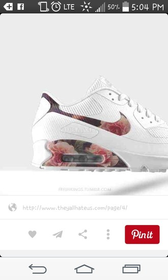 shoes floral air max nike air max 90 white