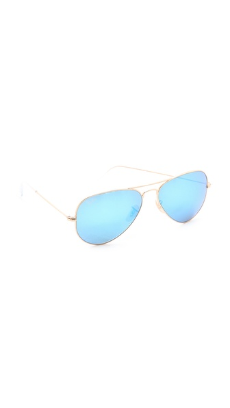 Ray-Ban Mirrorred Matte Classic Aviator Sunglasses | SHOPBOP