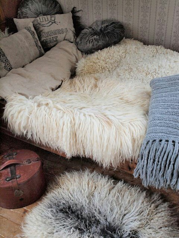 Home Accessory Sheepskin Sheepskin Throw Bedding