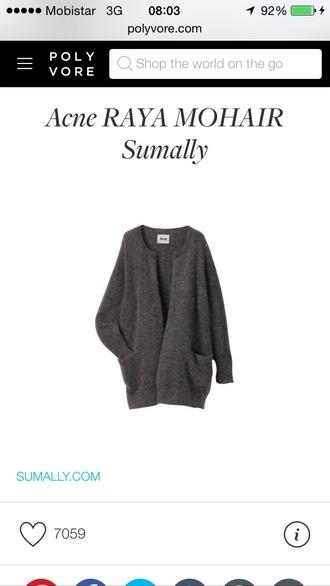 cardigan grey sweater grey cardigan grey top