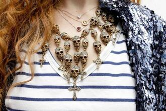 jewels skull necklace