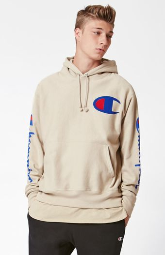 Champion Reverse Weave Tan Pullover Hoodie At Pacsun Com