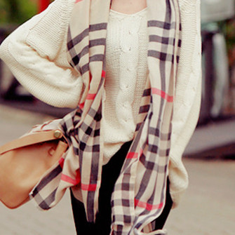 black white brown burberry scarf red