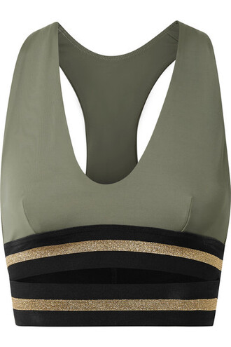 bra sports bra green army green underwear